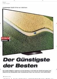Titelbild der Ausgabe 2/2020 von Erstklassiger OLED-TV für nur 1.500 Euro: Der Günstigste der Besten. Zeitschriften als Abo oder epaper bei United Kiosk online kaufen.