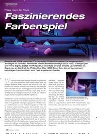 Titelbild der Ausgabe 2/2020 von Philips Hue in der Praxis: Faszinierendes Farbenspiel. Zeitschriften als Abo oder epaper bei United Kiosk online kaufen.