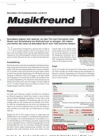 Titelbild der Ausgabe 3/2020 von Soundbar mit Funksubwoofer LG SL4Y: Musikfreund. Zeitschriften als Abo oder epaper bei United Kiosk online kaufen.