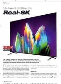 Titelbild der Ausgabe 5/2020 von Bild: UHD-TV (LED): 75-Zoll-Bildgigant LG 75NANO999NA im Test: Real-8K. Zeitschriften als Abo oder epaper bei United Kiosk online kaufen.