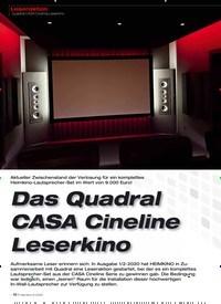 Titelbild der Ausgabe 6/2020 von Das Quadral CASA Cineline Leserkino. Zeitschriften als Abo oder epaper bei United Kiosk online kaufen.