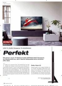 Titelbild der Ausgabe 6/2020 von Bild UHD-TV (OLED) Panasonic TX-55HZW2004: Perfekt. Zeitschriften als Abo oder epaper bei United Kiosk online kaufen.