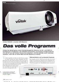 Titelbild der Ausgabe 3/2020 von Bild: UHD-HDR-3D-DLP-Projektor: Das volle Programm. Zeitschriften als Abo oder epaper bei United Kiosk online kaufen.