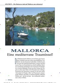 Titelbild der Ausgabe 3/2019 von SPANIEN – Die Balearen sind auf Mallorca am schönsten!: MALLORCA. Zeitschriften als Abo oder epaper bei United Kiosk online kaufen.