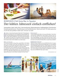 Titelbild der Ausgabe 1/2020 von ROBINSON Club Soma Bay in Ägypten: Der kühlen Jahreszeit einfach entfliehen!. Zeitschriften als Abo oder epaper bei United Kiosk online kaufen.