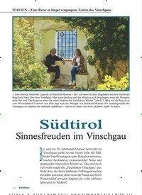 Titelbild der Ausgabe 3/2019 von ITALIEN – Eine Reise in längst vergangene Zeiten des Vinschgaus: Südtirol. Zeitschriften als Abo oder epaper bei United Kiosk online kaufen.