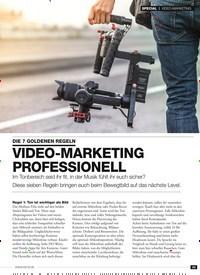 Titelbild der Ausgabe 1/2019 von VIDEO-MARKETING: DIE 7 GOLDENEN REGELN: VIDEO-MARKETING PROFESSIONEL. Zeitschriften als Abo oder epaper bei United Kiosk online kaufen.