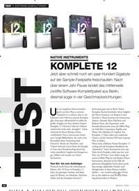 Titelbild der Ausgabe 1/2019 von SOFTWARE-KOMPLETTPAKET NATIVE INSTRUMENTS KOMPLETE 12. Zeitschriften als Abo oder epaper bei United Kiosk online kaufen.