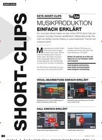 Titelbild der Ausgabe 2/2019 von SHORT-CLIPS: SHORT-CLIPS: KEYS-SHORT-CLIPS: MUSIKPRODUKTION: EINFACH ERKLÄRT. Zeitschriften als Abo oder epaper bei United Kiosk online kaufen.