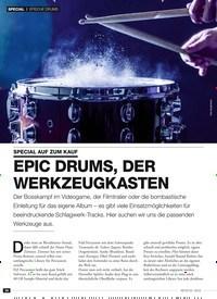 Titelbild der Ausgabe 3/2019 von EPISCHE DRUMS: SPECIAL AUF ZUM KAUF: EPIC DRUMS, DER WERKZEUGKASTEN. Zeitschriften als Abo oder epaper bei United Kiosk online kaufen.
