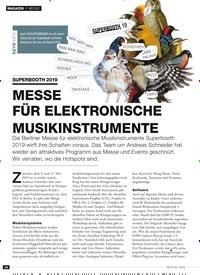 Titelbild der Ausgabe 5/2019 von MESSE: SUPERBOOTH 2019: MESSE FÜR ELEKTRONISCHE MUSIKINSTRUMENTE. Zeitschriften als Abo oder epaper bei United Kiosk online kaufen.