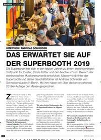 Titelbild der Ausgabe 5/2019 von DAS ERWARTET SIE AUF DER SUPERBOOTH 2019. Zeitschriften als Abo oder epaper bei United Kiosk online kaufen.