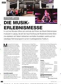 Titelbild der Ausgabe 8/2019 von MUSICPARK LEIPZIG: DIE MUSIKERLEBNISMESSE. Zeitschriften als Abo oder epaper bei United Kiosk online kaufen.