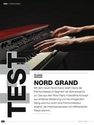 Titelbild der Ausgabe 10/2019 von DIGITALPIANO: CLAVIA: NORD GRAND. Zeitschriften als Abo oder epaper bei United Kiosk online kaufen.
