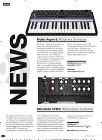 Titelbild der Ausgabe 11/2019 von NEWS: Modal Argon 8: Polyphoner Synthesizer. Zeitschriften als Abo oder epaper bei United Kiosk online kaufen.
