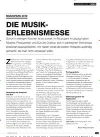 Titelbild der Ausgabe 11/2019 von MUSICPARK 2019: DIE MUSIKERLEBNISMESSE. Zeitschriften als Abo oder epaper bei United Kiosk online kaufen.