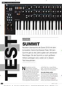 Titelbild der Ausgabe 11/2019 von HARDWARE-SYNTHESIZER: NOVATION: SUMMIT. Zeitschriften als Abo oder epaper bei United Kiosk online kaufen.