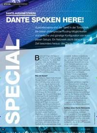 Titelbild der Ausgabe 12/2019 von DANTE-AUDIONETZWERK: DANTE SPOKEN HERE!. Zeitschriften als Abo oder epaper bei United Kiosk online kaufen.