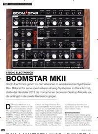 Titelbild der Ausgabe 12/2019 von STUDIO ELECTRONICS: BOOMSTAR MKII. Zeitschriften als Abo oder epaper bei United Kiosk online kaufen.