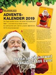 Titelbild der Ausgabe 1/2020 von DER GROSSE KEYS: ADVENTSKALENDER 2019. Zeitschriften als Abo oder epaper bei United Kiosk online kaufen.