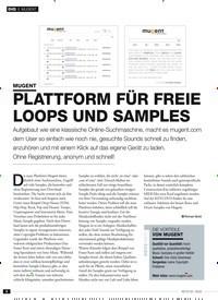 Titelbild der Ausgabe 2/2020 von PLATTFORM FÜR FREIE LOOPS UND SAMPLES: MUGENT. Zeitschriften als Abo oder epaper bei United Kiosk online kaufen.