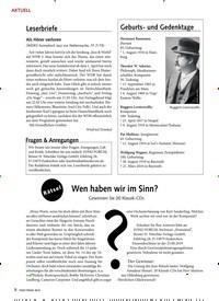 Titelbild der Ausgabe 8/2019 von AKTUELL: Leserbriefe. Zeitschriften als Abo oder epaper bei United Kiosk online kaufen.
