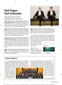 Titelbild der Ausgabe 8/2019 von Fünf Fragen Fünf Antworten. Zeitschriften als Abo oder epaper bei United Kiosk online kaufen.