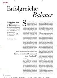 Titelbild der Ausgabe 10/2019 von PORTRÄT: Erfolgreiche Balance. Zeitschriften als Abo oder epaper bei United Kiosk online kaufen.
