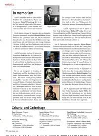 Titelbild der Ausgabe 12/2019 von AKTUELL: In memoriam. Zeitschriften als Abo oder epaper bei United Kiosk online kaufen.