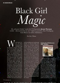 Titelbild der Ausgabe 12/2019 von IN MEMORIAM: Black Girl Magic. Zeitschriften als Abo oder epaper bei United Kiosk online kaufen.