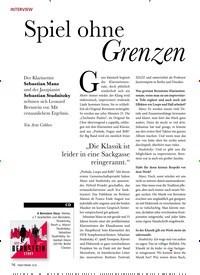 Titelbild der Ausgabe 12/2019 von INTERVIEW: Spiel ohne Grenzen. Zeitschriften als Abo oder epaper bei United Kiosk online kaufen.