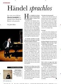 Titelbild der Ausgabe 12/2019 von INTERVIEW: Händel sprachlos. Zeitschriften als Abo oder epaper bei United Kiosk online kaufen.