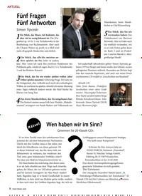 Titelbild der Ausgabe 2/2020 von Fünf Fragen Fünf Antworten. Zeitschriften als Abo oder epaper bei United Kiosk online kaufen.