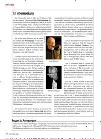 Titelbild der Ausgabe 2/2020 von In memoriam. Zeitschriften als Abo oder epaper bei United Kiosk online kaufen.