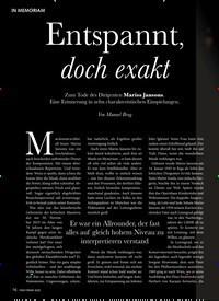 Titelbild der Ausgabe 2/2020 von IN MEMORIAM: Entspannt, doch exakt. Zeitschriften als Abo oder epaper bei United Kiosk online kaufen.