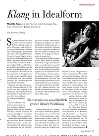 Titelbild der Ausgabe 4/2020 von IN MEMORIAM: Klang in Idealform. Zeitschriften als Abo oder epaper bei United Kiosk online kaufen.