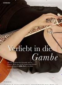 Titelbild der Ausgabe 7/2020 von INTERVIEW: Verliebt in die Gambe. Zeitschriften als Abo oder epaper bei United Kiosk online kaufen.