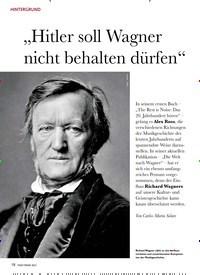 """Titelbild der Ausgabe 2/2021 von """"Hitler soll Wagner nicht behalten dürfen"""". Zeitschriften als Abo oder epaper bei United Kiosk online kaufen."""