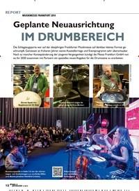 Titelbild der Ausgabe 4/2019 von MUSIKMESSE FRANKFURT 2019: Geplante Neuausrichtung: IM DRUMBEREICH. Zeitschriften als Abo oder epaper bei United Kiosk online kaufen.