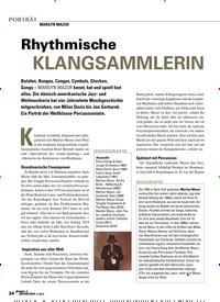 Titelbild der Ausgabe 4/2019 von MARILYN MAZUR: Rhythmische KLANGSAMMLERIN. Zeitschriften als Abo oder epaper bei United Kiosk online kaufen.