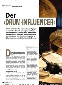 Titelbild der Ausgabe 5/2019 von DENNIS CHAMBERS: ›DRUM-INFLUENCER‹. Zeitschriften als Abo oder epaper bei United Kiosk online kaufen.