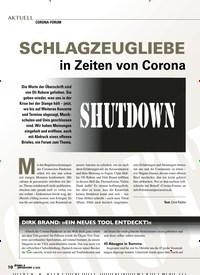 Titelbild der Ausgabe 4/2020 von CORONA-FORUM: SCHLAGZEUGLIEBE in Zeiten von Corona shutdown. Zeitschriften als Abo oder epaper bei United Kiosk online kaufen.