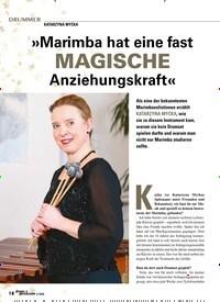 Titelbild der Ausgabe 4/2020 von KATARZYNA MYCKA: »Marimba hat eine fast MAGISCHE Anziehungskraft«. Zeitschriften als Abo oder epaper bei United Kiosk online kaufen.