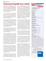 Titelbild der Ausgabe 1/2019 von STEREOHIFI- LEXIKON: Technische Begriffe kurz erklärt. Zeitschriften als Abo oder epaper bei United Kiosk online kaufen.