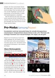 Titelbild der Ausgabe 1/2019 von Android-Kamera I Grundlagen: Pro-Modus Samsung / Huawei. Zeitschriften als Abo oder epaper bei United Kiosk online kaufen.
