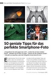 Titelbild der Ausgabe 1/2019 von Das perfekte Smartphone-Foto I 50 Tipps: 50 geniale Tipps für das perfekte Smartphone-Foto. Zeitschriften als Abo oder epaper bei United Kiosk online kaufen.