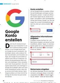 Titelbild der Ausgabe 2/2019 von Google Konto: Google Konto erstellen. Zeitschriften als Abo oder epaper bei United Kiosk online kaufen.