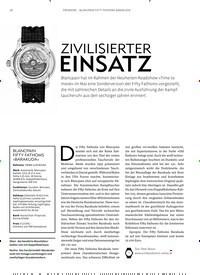 Titelbild der Ausgabe 6/2019 von PREMIERE – BLANCPAIN FIFTY FATHOMS BARAKUDA: ZIVILISIERTER EINSATZ. Zeitschriften als Abo oder epaper bei United Kiosk online kaufen.