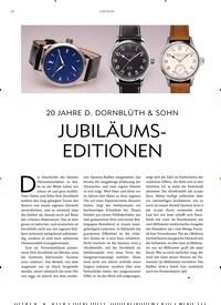 Titelbild der Ausgabe 7/2019 von JUBILÄUM: 20 JAHRE D. DORNBLÜTH & SOHN JUBILÄUMSEDITIONEN. Zeitschriften als Abo oder epaper bei United Kiosk online kaufen.