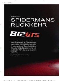 Titelbild der Ausgabe 4/2019 von PORTFOLIO: Ferrari 812 GTS: SPIDERMANS RÜCKKEHR. Zeitschriften als Abo oder epaper bei United Kiosk online kaufen.